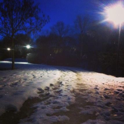 Le ripetute su neve ghiacciata mista terra sono un po' complicate.